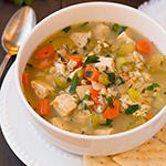 Chicken & Barley Soup- arianascuisineofmarin.com