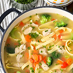 Chicken Noodle Soup w Spring Vegetables- arianascuisineofmarin.com
