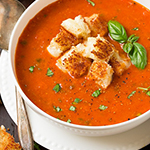 Tomato Basil soup- arianascuisineofmarin.com