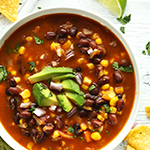 Vegan Black Bean & Veg Soup