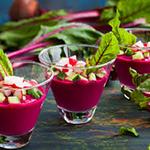 beet & Pomegranate Gazpacho- arianascuisineofmarin.com
