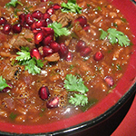 persian pomegranate soup- arianascuisineofmarin.com
