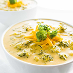 Broccolini and Cheese Soup - arianascuisineofmarin.com